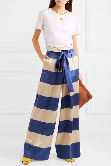 Silk Wide Leg Trousers