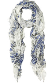 Mulberry Tiger-print modal scarf