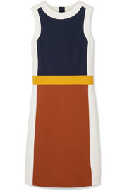 Mya color-block stretch-jersey dress