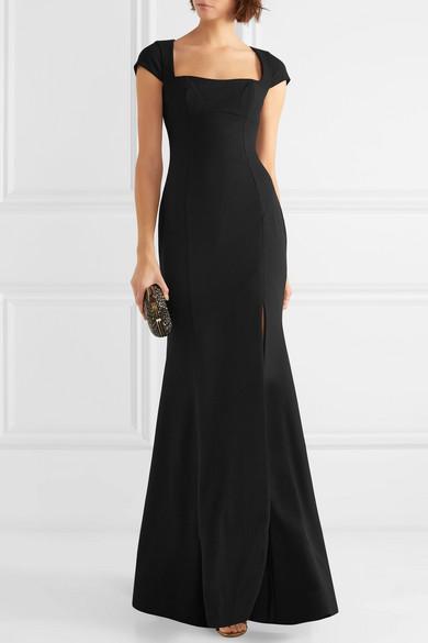 Adriatic Open-back Crepe Gown - Black Rebecca Vallance zZGwrD