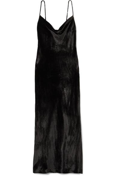 REBECCA VALLANCE Kara velvet midi dress