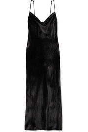 Evie Ruffled Floral-print Silk Crepe De Chine Maxi Dress - Black Rixo London 8e89w