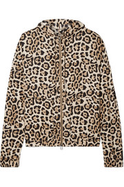 ATM Anthony Thomas Melillo Hooded leopard-print silk-charmeuse jacket