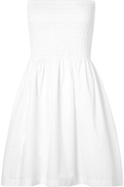 ATM Anthony Thomas Melillo Shirred cotton-poplin dress