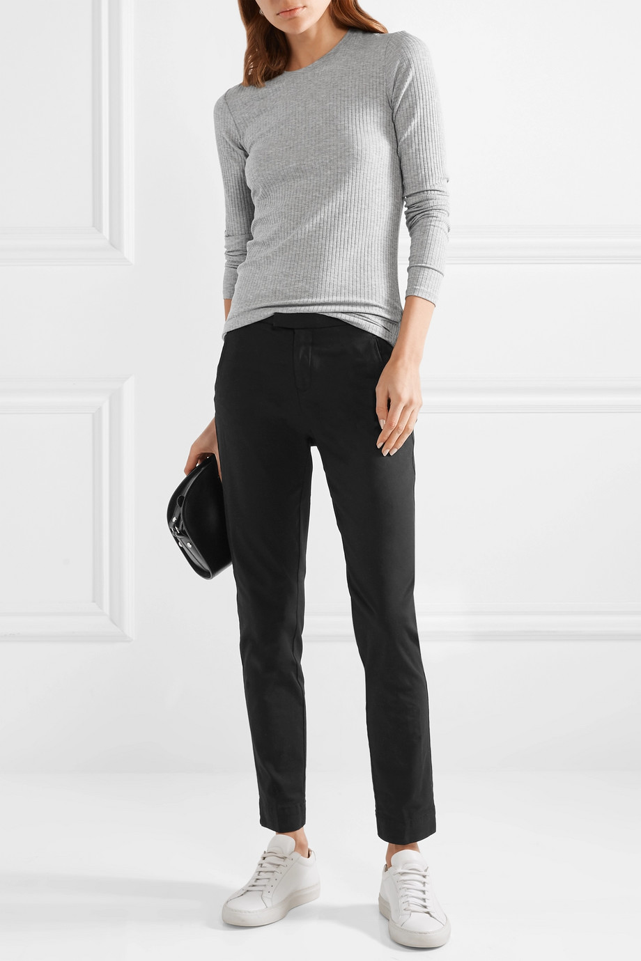 ATM Anthony Thomas Melillo Stretch-cotton twill tapered pants