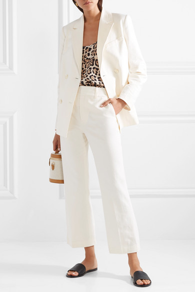 0d344c3fe475e9 ATM Anthony Thomas Melillo. Leopard-print silk-charmeuse camisole