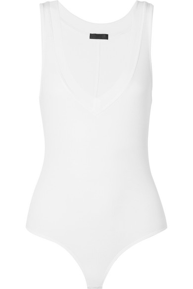 Stretch Pima-cotton Jersey Thong Bodysuit - White ATM Anthony Thomas Melillo Clearance Classic Big Discount Cheap Online F7uYtTxXYy