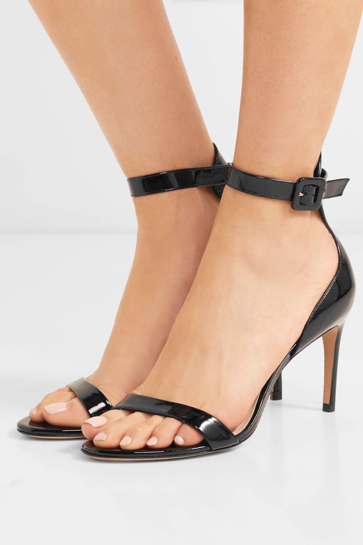 Black Nicole patent-leather sandals