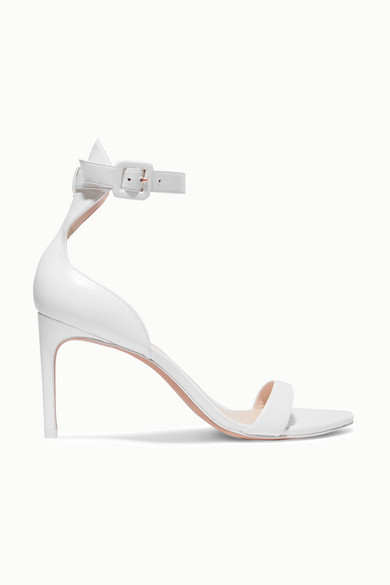 Nicole Leather Sandals in White
