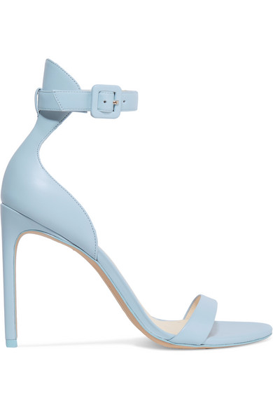 Nicole Leather Sandals in Blue