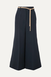 Rabea cropped cady wide-leg pants