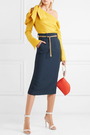 Harta cord-trimmed crepe pencil skirt