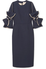 Roksanda Lavete bow-embellished crepe midi dress