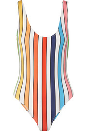 Aristi striped swimsuit