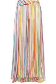 Hera metallic silk-blend chiffon maxi skirt