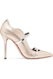Malone Souliers Maureen metallic leather pumps