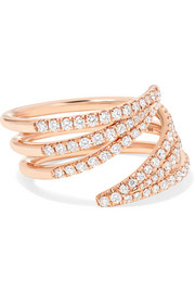 Cristina 18-karat rose gold diamond ring