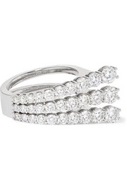 Aria 18-karat white gold diamond ring