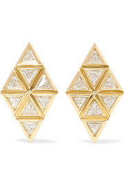 Chloe Violet 18-karat gold diamond earrings