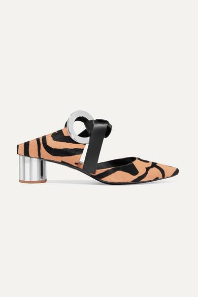 Proenza Schouler - Zebra-print Calf Hair Mules - Zebra print