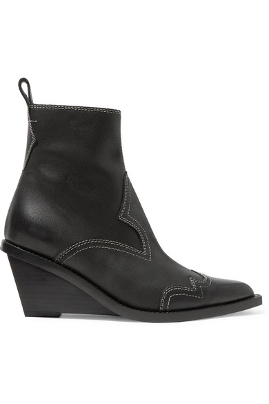 1f66e726e914 MM6 Maison Margiela. Nubuck wedge ankle boots