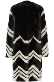 Givenchy Chevron shearling coat
