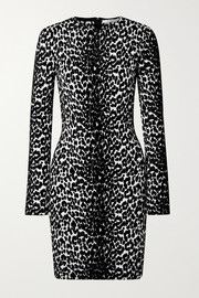 Givenchy Mini-robe en mailles jacquard stretch