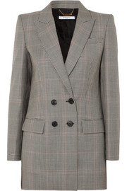 Givenchy Double-breasted houndstooth wool-blend blazer