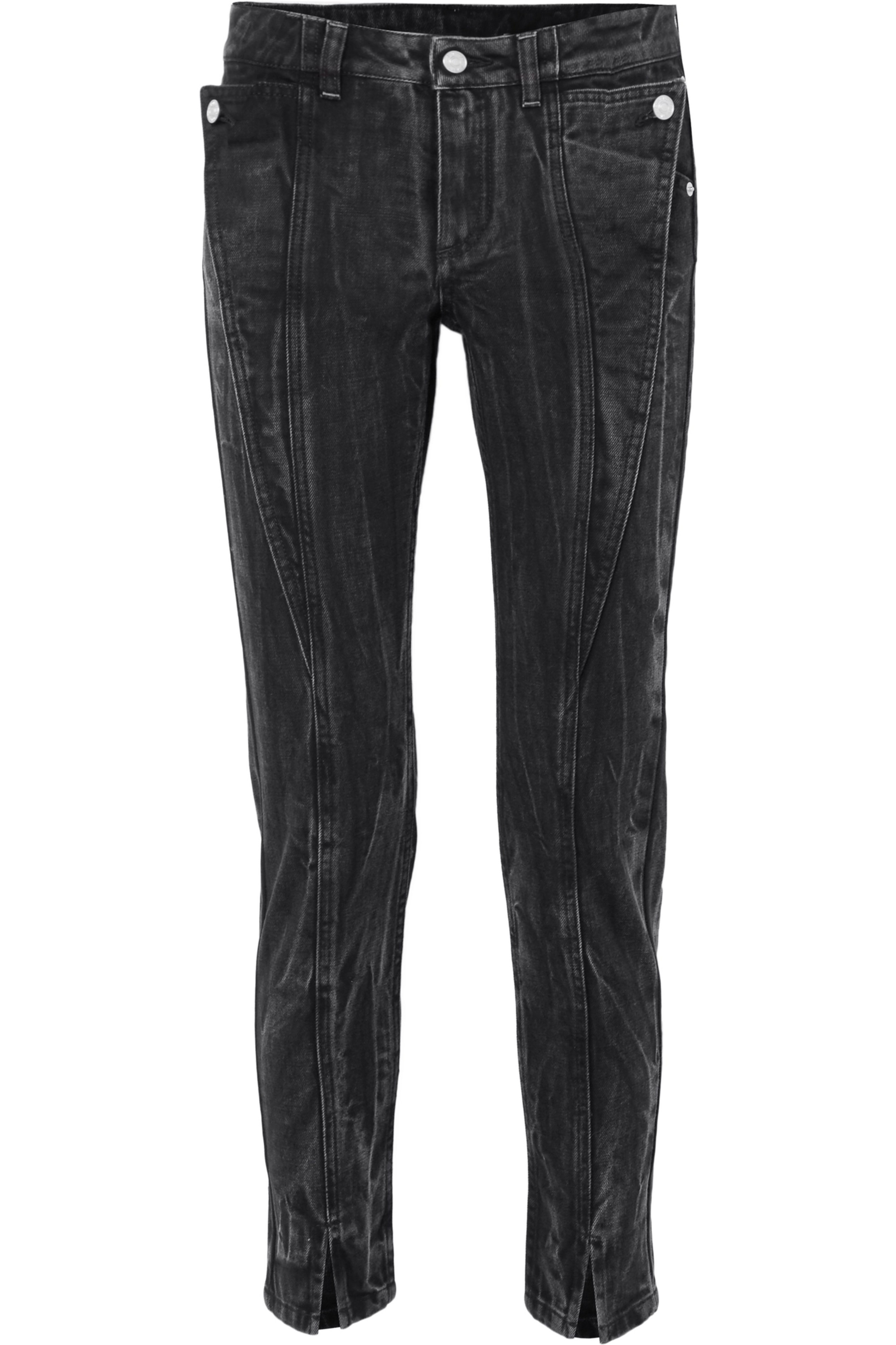 Givenchy Distressed mid-rise slim-leg jeans