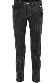 Givenchy Halbhohe Jeans mit schmalem Bein in Distressed-Optik