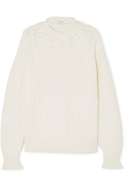 Givenchy Pull en laine et cachemire mélangés à mailles torsadées