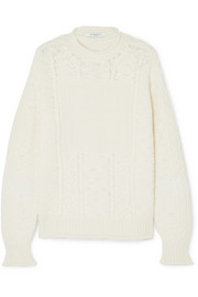 Givenchy Cable-knit wool and cashmere-blend sweater