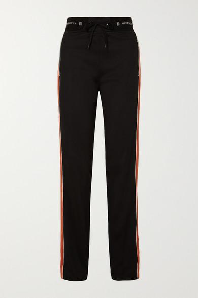 012f47482ac Givenchy Velvet Side-Stripe Drawstring Track Pants In Black ...