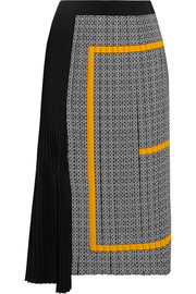 Givenchy Pleated printed silk crepe de chine midi skirt