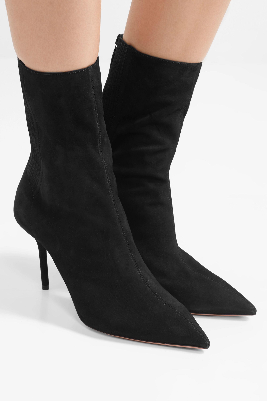 Black Saint Honore 85 suede sock boots