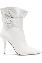 Aquazzura Palace ruffled leather ankle boots