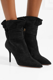 Palace ruffled suede ankle boots