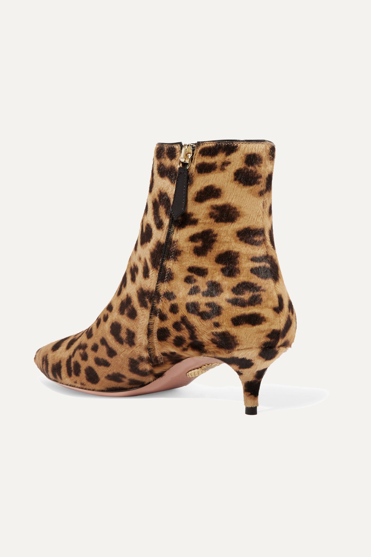 Aquazzura Quant leopard-print calf hair ankle boots