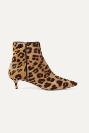 Quant leopard-print calf hair ankle boots