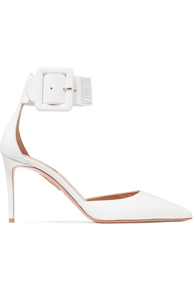 Casablanca Ankle Cuff Pump, White