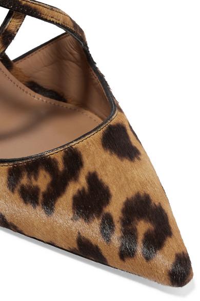 Aquazzura Kalbshaar | Viviana Pumps aus Kalbshaar Aquazzura mit Leopardenprint und Leder d709cc