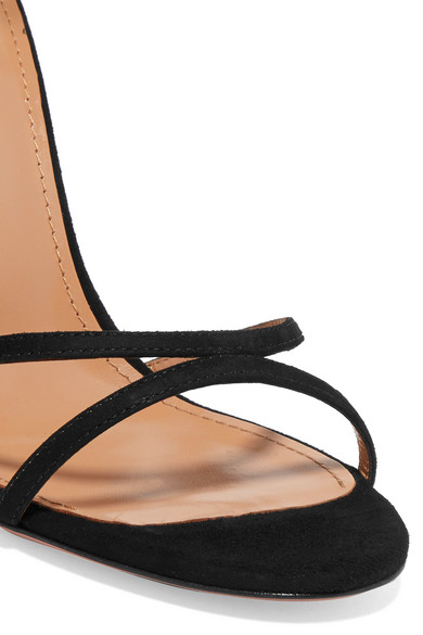 Purist Suede Sandals by Aquazzura