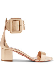 Casablanca metallic leather sandals