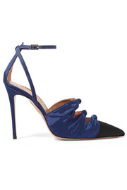 Aquazzura Mondaine two-tone knotted faille pumps