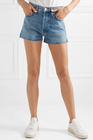 64ce0739a909 RE DONE. The Short frayed denim shorts