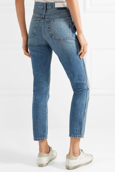 99c48d26dcdd1 RE DONE. Double Needle Crop high-rise tapered jeans. £130. Play