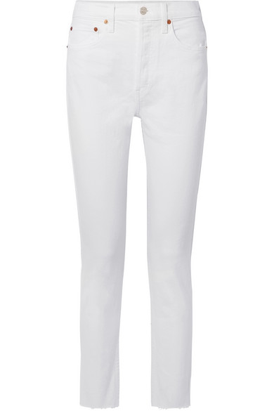 Re/Done Skinny White Jeans