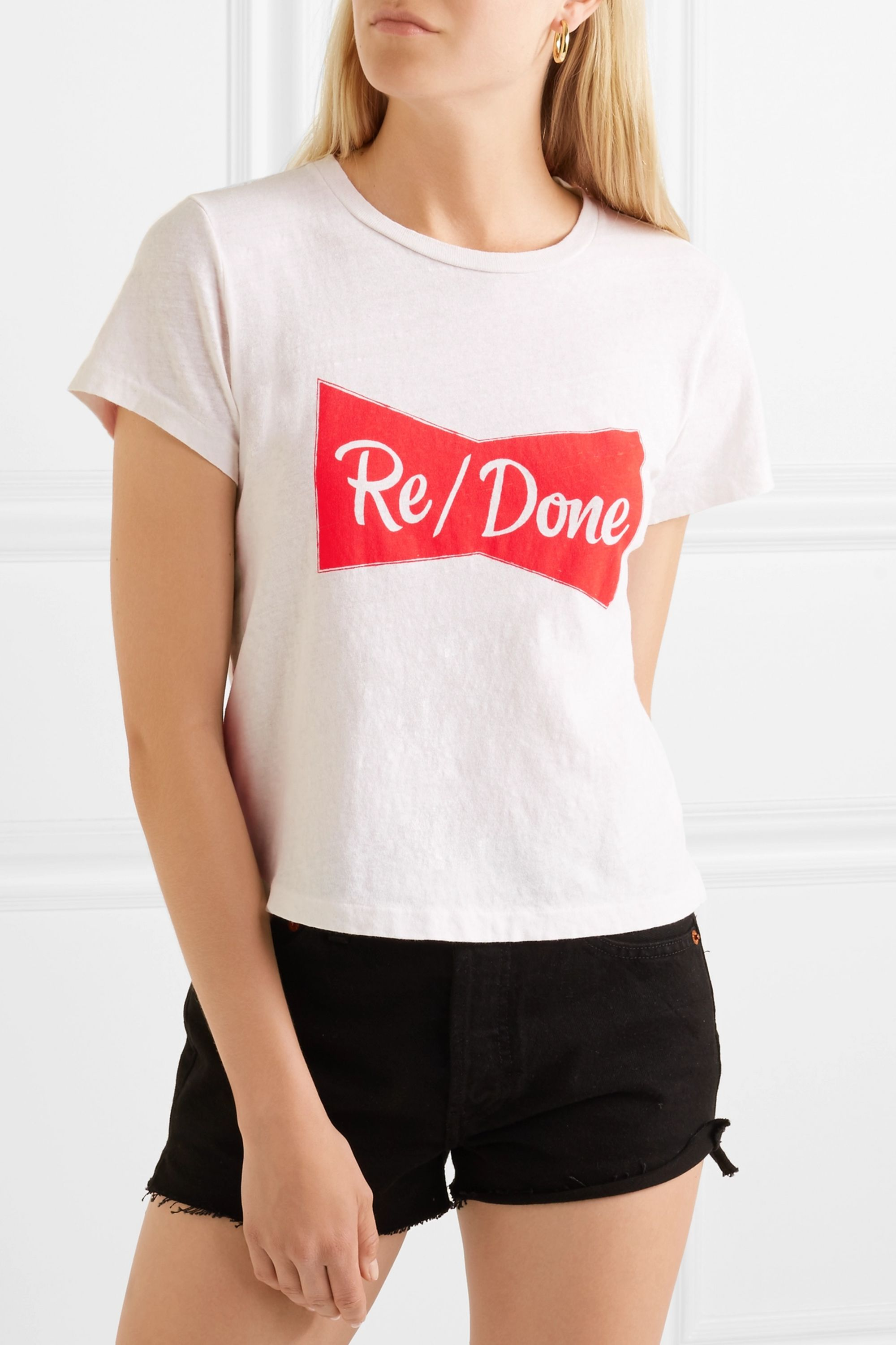 RE/DONE Printed cotton-jersey T-shirt