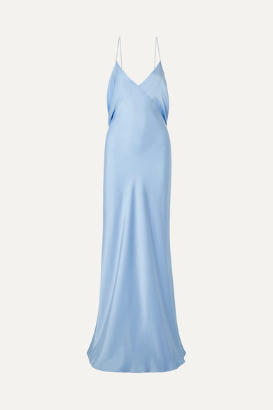 Gran Open Back Draped Silk Satin Gown by The Row