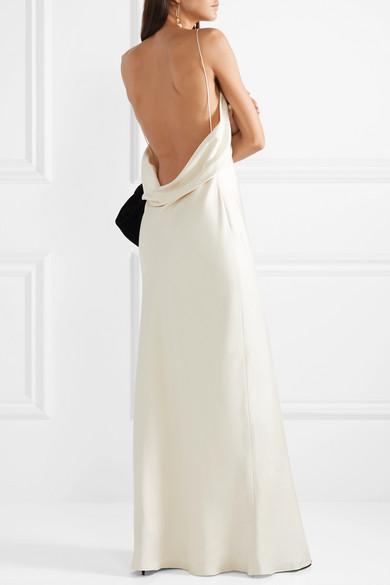 The Row Gran Open Back Silk Satin Gown